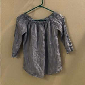 Gently Used Chambray Blouse.